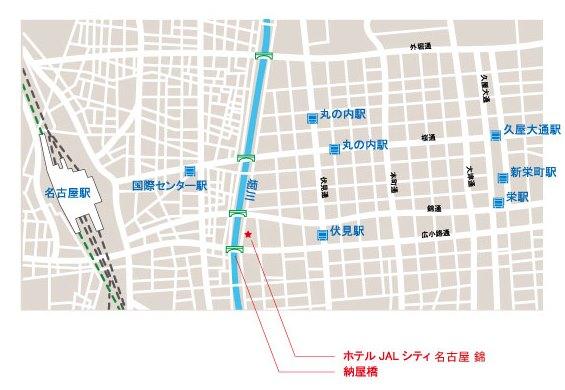 イメージ:ホテルJALシティ名古屋 錦・地図