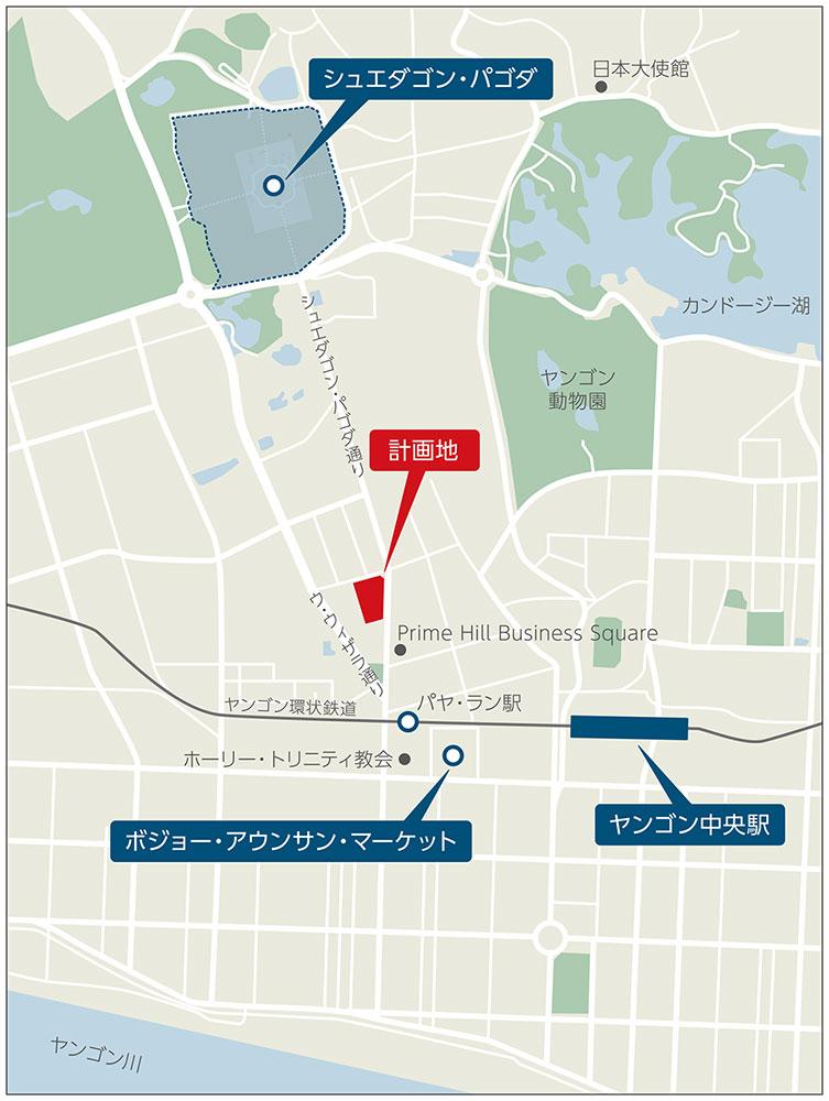 イメージ:「オークラ プレステージヤンゴン」(仮称)・詳細図