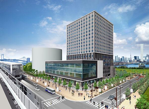 image:Rendition of Hotel JAL City Tokyo Toyosu