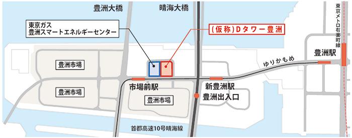イメージ:『ホテルJALシティ東京 豊洲』地図