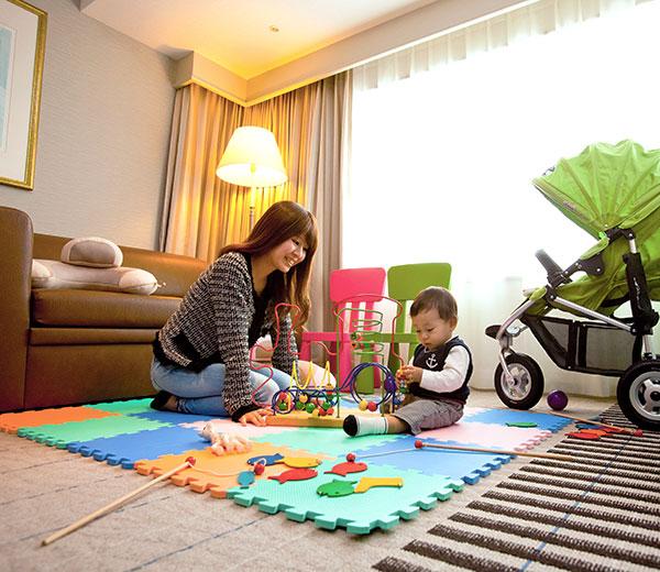 赤ちゃんと一緒でも安心:ホテル日航関西空港