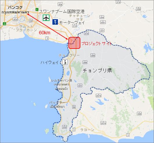 イメージ:『ホテル・ニッコー・アマタシティ チョンブリ』地図