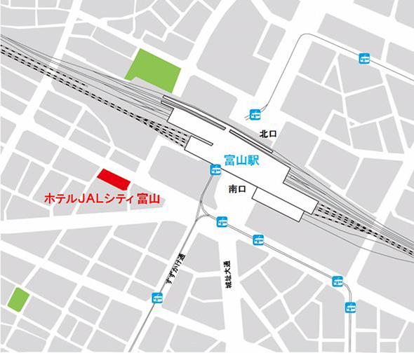 イメージ:『ホテルJALシティ富山』地図