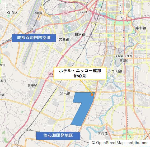 イメージ:『ホテル・ニッコー成都 怡心湖』地図