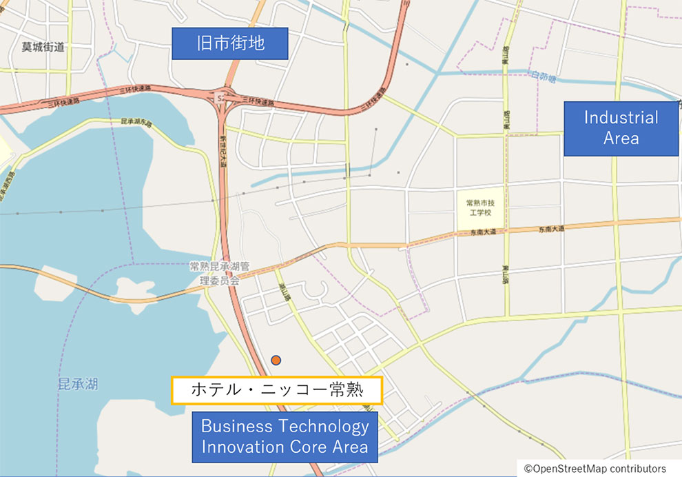 イメージ:『ホテル・ニッコー常熟』地図