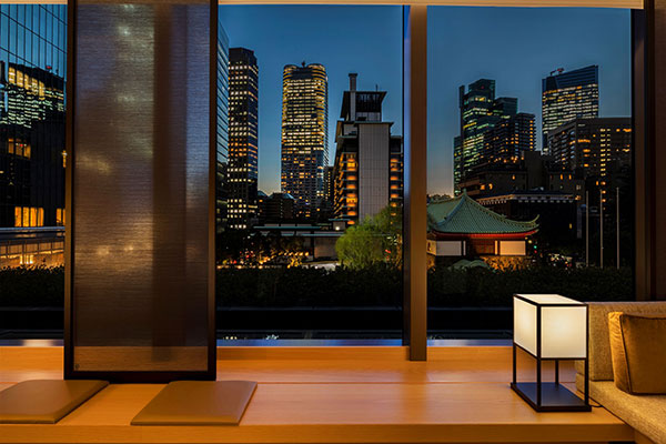 Night view from The Okura Heritage Wing