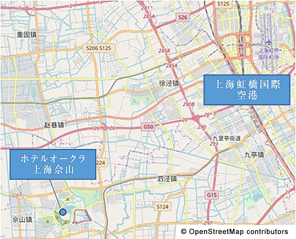 イメージ:ホテルオークラ上海佘山 地図